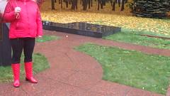 PA150058 (Axelweb) Tags: chubby bbw girl lady female rainwear raincoat pvc shiny wellies rubber boots gas mask plastenky holinky rainsuit rain suit plastic wellington gumboots galoshes gummi
