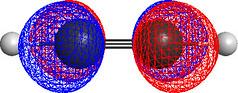 Acetylene Molecular Orbitals (ChiralJon) Tags: molecular modelling acetylene ethyne hydrocarbon organic chemistry modeling computer graphics chch 3d orbitals energy lumo geometry physical science