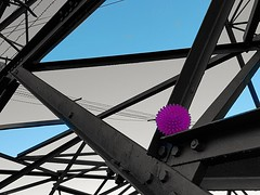 In the pink and blue (katy1279) Tags: inthepinkpinkballpylonblueabstract