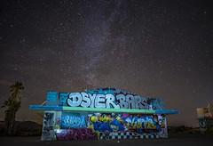 Graffiti Park (PhotonLab) Tags: abandoned graffiti urban calligraphy art night scene shooter nightsky owl galaxy milkeyway bombing sony a7ii zeiss lens carl desert waterpark delores water park sky grass