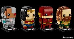 Justice League Brickheadz (The Brothers Brick) Tags: justice league dc 2017 superheroes brickheadz