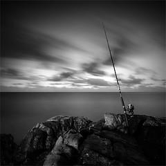 waiting (pattana92392) Tags: seawave sea longexposure coast water fineart stone blackwhite