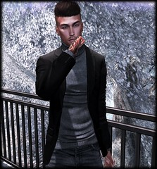 For there was nothing in his eyes but the black night and the cold stars. (Yuna.Styles) Tags: deadwool catwahead signaturegianni styling fashionsl bloggingsl malefashion stealthichair animosityposes secondlife coldoutside