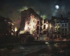 Demolition (jeanfenechpictures) Tags: paris demolition travaux works nuit night lune moon lumière light fleuve river batiments building