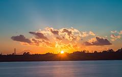 Sunset (tokyobogue) Tags: tokyo japan arakawa nikon nikond7100 d7100 autumn colours orange yellow sunset dusk water sky fuji mtfuji hdr