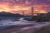 Baker Beach (IzTheViz) Tags: bridge sunset sanfrancisco bakerbeach goldengate ilce7r california pacific
