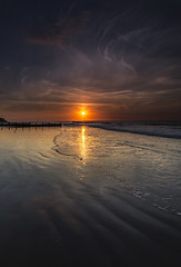Last Good Day (Karl Ruston) Tags: ocean sea sand beach evening sky landscape sunset clouds reflections cromer coast outdoor water bo bay shore