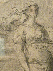 POUSSIN Nicolas (Attribué) - Eliezer et Rebecca (drawing, dessin, disegno-Pontoise) - Detail 22 (L'art au présent) Tags: art painter peintre details détail détails detalles painting paintings peinture peintures 17th 17e dessins17e 17thcenturydrawings 17thcentury tableaux pontoise iledefrance museum nicolaspoussin france paris femme woman robe dress dresses grace graceful grâce jeunefemme youngwoman youngwomen servant servante bible man men hommes youth tête heads head jeune young figure personne people