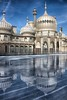Royal Pavilion on ice (sussexscorpio) Tags: reflected 2017 brighton brightonpavilion eastsussex november pavilion royalpavilion sussex sussexscorpio ice icerink reflection reflections iconic architecture outdoor daylight princeregent palace sky clouds blue rink