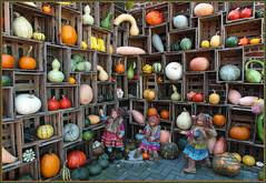 Wer die Wahl hat, hat die Qual ... (Kindergartenkinder) Tags: kürbis hofladen kindergartenkinder annette himstedt dolls annemoni sanrike tivi kostüm