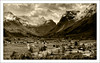 Mountain's of Olden(Norway) (williamwalton001) Tags: texture trees timber framed mountains norway village buildings clouds church monochrome tones saariysqualitypictures