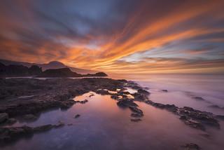 Norte de Tenerife, atardecer en el Pris