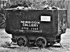 Newbiggin Colliery - Coal Tub (Gilli8888) Tags: northeast olympus e450 blackandwhite northumberland newbigginbythesea newbiggin coal mining coaltub mine colliery