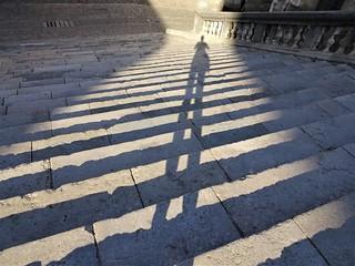 Feeling tall in Girona.