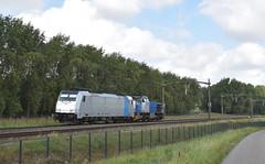 2016-09-09_056 Rurtalbahn 186 425 en V155 Willemsdorp Dordrecht (Peter Boot) Tags: rurtalbahn v155 willemsdorp dordrecht rtb186425 1186425 rtbv155 g1206 dieselloc traxx eloc bombardier cargo trein opzending spoor spoorwegen