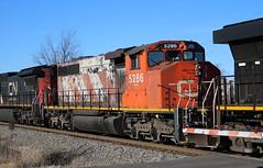 CN 5286, Clayton, Neenah, 29 Nov 17 (kkaf) Tags: neenah clayton a491 sd402w