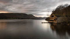 a glimpse of gold. (akh1981) Tags: landscape lakedistrict lake manfrotto mountains moody longexposure sunrise nikon nisi outdoors cumbria clouds ullswater wideangle water walking travel trees