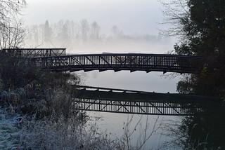 Sussex Creek bridge at King tide