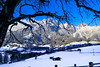 Winter Mode (Saimul Hassan) Tags: leogang outdoor occasion österreich colour color blue landscape salzburg austria village dorf snow winter mountain mountainside house fence wald sky skiing christmas tree forest park nature december trip trees