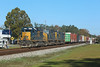 8137 + 4571 + 4585, Folkston, 24 Nov 2017 (Mr Joseph Bloggs) Tags: csx folkston georgia usa united states america train treno bahn railway railroad manifest freight cargo merci 8137 4571 4585 emd electro motive division gm general motors sd402 sd40