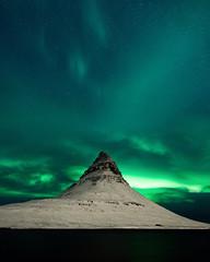 auroa borealis. kirkjufell. iceland. Don't miss my ... (Tanner Wendell Stewart) Tags: ifttt 500px aurora borealis northern lights kirkjufell happy camper iceland happycampers