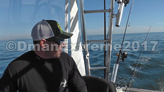 Captain Mike Notices a Pole Going Off (DmanExtreme) Tags: reelmaxlife reel reelmax dman dmanextreme extreme jersey penn linecutterz line cutterz captain mike key fishing charters bass tog black fish boat viking