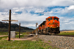 BNSF 9210 - Spruce, CO (Wheelnrail) Tags: bnsf burlington northern santa fe train trains locomotive rail road coal emd sd70ace colorado joint line pikes peak subdivision west is best mountain rocky spruce palmer lake