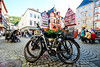 The Town Square (George Plakides) Tags: bernkastelkues moselle traditional medieval architecture halftimber houses bicycle paving flowers samyang 14mm
