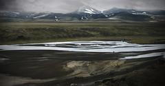 Landmanalaugar. Iceland (ibethmuttis) Tags: river mountains snow sky water landscape clouds