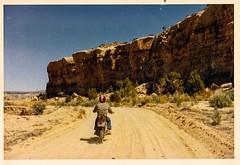 biking farmington 1971 (david haggard) Tags: newmexico honda dirtroad dirtbike helmet desert 1971 springbreak