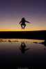 Levitation (Nicola Pezzoli) Tags: colors sunset sky firesky blue italy bergamo leffe peia poiana val gandino seriana nature levitation jump man silhouette mirror lake water surface gradient purple pink orange