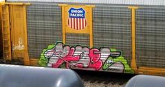 value - rabet (timetomakethepasta) Tags: axis atlas value cbs rabet freight train graffiti art union pacific autorack benching selkirk new york