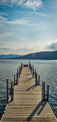 pier (avflinsch) Tags: ifttt 500px sky lake water pier mountain drtama