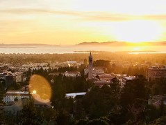 LeiWeng_UCB_Berkeley campus overview_Fall_2017) (Study Abroad Foundation) Tags: berkeley big c view iconic campus sunset horizontal water city mountain dusk sky grass forest
