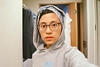 agfa portrait xps 160 ++ (Nazra Z.) Tags: selfportrait portrait selfie asian woman turban turbanista hoodie sweaterweather okayama japan 2017 autumn raw