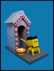 Guard Dog (Karf Oohlu) Tags: lego moc dog guard dogguard house doghouse vignette