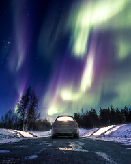 Aurora Road (R.J. Photography) Tags: auroraborealis nightsky nightphotography longexposure northernlights