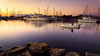 Heading out (Ed Rosack) Tags: peoplephotography usa sunrise calm water hires sailboat ©edrosack florida multipleexposure activity landscape titusville fishing olympus marina highres boating river sky centralflorida jetty fishingboat harbor boat dawn