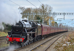 Pushing or pulling? (ianmartian) Tags: steam wcrc stanier black5 45212 iver southall swanage ecs