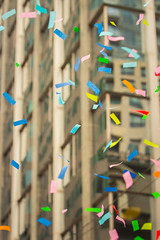 Confetti (A Great Capture) Tags: streetphotography streetscape streetphoto street calle holiday season agreatcapture agc wwwagreatcapturecom adjm ash2276 ashleylduffus ald mobilejay jamesmitchell toronto on ontario canada canadian photographer northamerica torontoexplore fall autumn automne herbst autunno 2017 city downtown lights urban cityscape urbanscape eos digital dslr lens canon colours colors colourful colorful blur dof ef70200mm blue yellow orange pink red santa claus parade