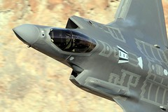 The flying Dutchman (Dafydd RJ Phillips) Tags: f35 lighning rainbow canyon star wars transition jedi death valley california edwards afb base air force test evaluation fifth generation 5th aviation military cockpit pilot dutch netherlands
