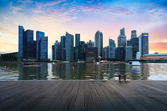 Singapore central business district skyline at dusk, Singapore (Patrick Foto ;)) Tags: architecture asia asian bay bridge building business central city cityscape commercial district downtown dusk economy evening famous financial harbor highrise illuminated landmark landscape light marina metropolis modern museum night office outdoors reflection river scene singapore sky skyline skyscraper southeast tall tourism tourist tower travel twilight urban view water waterfront sg
