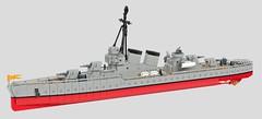 "Armada de Cervantes Destroyer ""Olvidable"" (John Moffatt) Tags: lego digital designer boat bote destroyer mcdestroyerface whyaretherenogoodpropellersatthisscale"