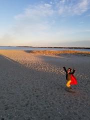 Sunset leap (quinn.anya) Tags: sunset sand sam preschooler cape leap water jump