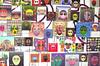 facce (Il cantore) Tags: disegni pictures immagini images facce volti faces colori colours rettangolo rectangle molti alot serie series
