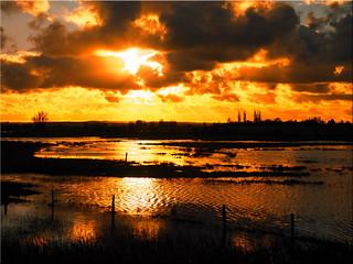 Sunset on the island Poel