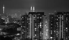 2010_ac_Kuala Lumpur on rainy night. (Wellsman2010) Tags: black white blanco cityscape landscape kuala lumpur malaysia sky night dark asia canon 5d mkii 70300 l lens cheras dwitasik lights