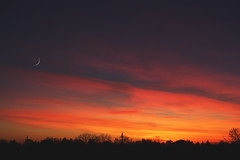 something about sixteen (viewsfromthe519) Tags: sunset evening sky stthomas ontario canada silhouette trees clouds pink orange golden purple blue magenta sun