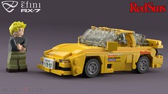Keisuke Takahashi's Infini RX-7 FD3S Type R [Akagi RedSuns] (initial_dvache) Tags: ldd lego blender mecabricks car 5wide 6wide mazda infini