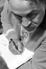 Brothers Kapranovi on the Book Forum (bobobahmat) Tags: 2013 lviv life lvov city color red town tourism ukraine ukrainian uniform vyshyvanka brother kapranovs writer book forum people portrait performer street beard mustache face eyes view bnw bw black white n monochrome mono write autograph